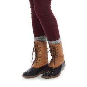 Madden Girl  Flurry Duck Boots Size 8
